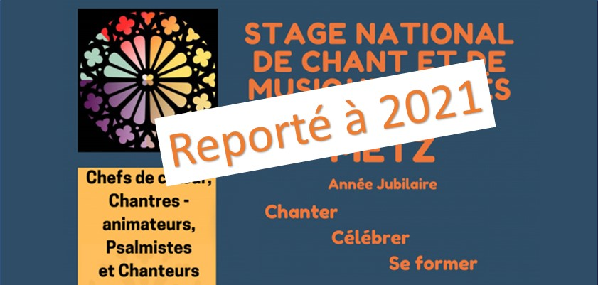 Reporté à 2021- Stage national de chant liturgique